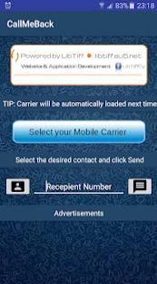 [Android Application] CallMeBack App