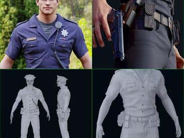 3D modeling on practical police
