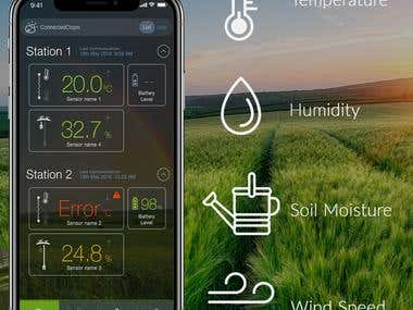 Connected Crops (IOT enabled App)