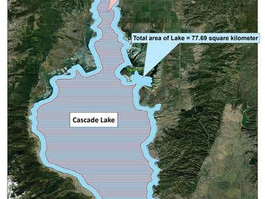 Demarcation of cascade lake in United States