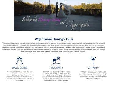 Dating and Tourism Website