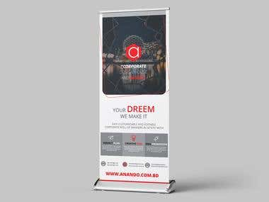 Rolled Up Banner Design | Corporate Banner