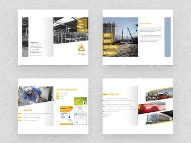 Company profile design for TriangleOman