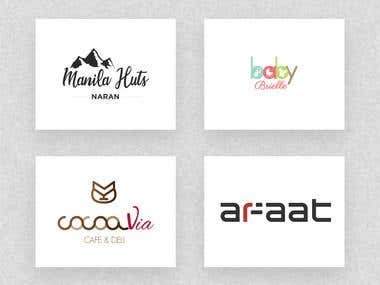 Logo designs for various clients