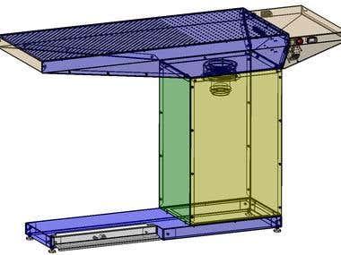 SUCTION TABLE - CATIA V5R21/GENERATIVE SHEETMETAL DESIGN