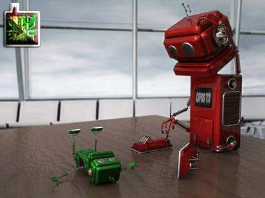 3D robot character