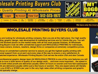 WHOLESALE PRINTING BUYERS CLUB