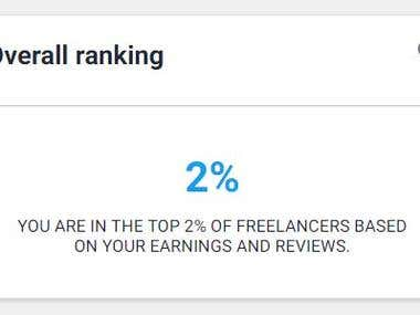 I AM IN THE TOP 2% OF FREELANCERS