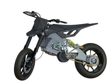 Racing electric Supermoto - Axiis Liion