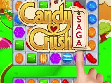 Advertising video for Company Candy Crush Saga