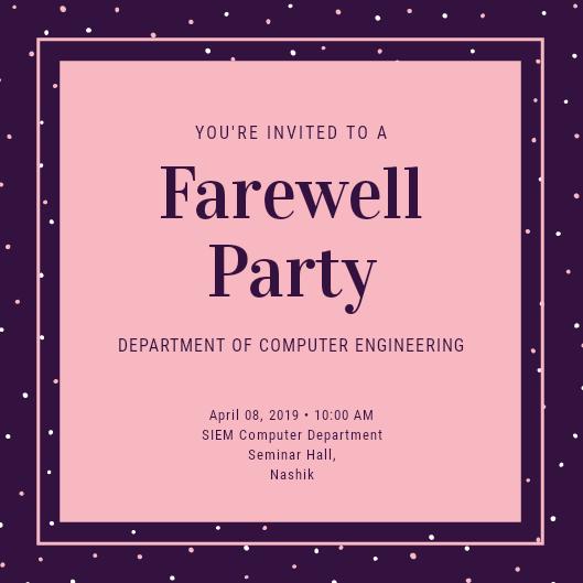 Invitation Card Freelancer