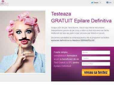 Landing Page Campaign for Beauty Salon