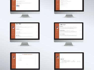 CV Website For Peronal or Company Profiling