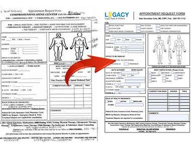 Appointment PDF Form Creation