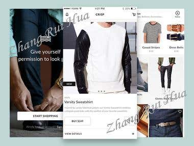 Shopping Android app
