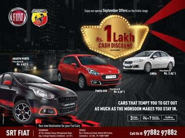 Fiat Dealership Local Flyer for Printing
