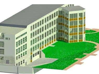 modeling of an existing building according to BIM standards