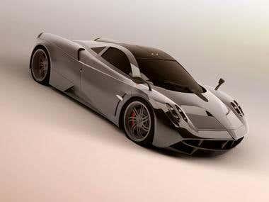 3D Modeling [Pagani Huayra]