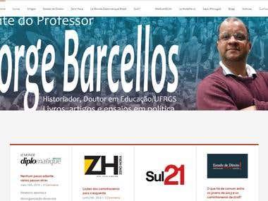 Site do Professor Jorge Barcellos