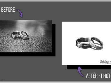 Photoshop Jewelry Background Removal - Transparency