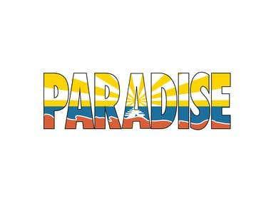 Paradise Sunset - Re-draw / Illustration