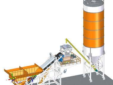 3D MODEL & 2D DRAFTING (CEMENT BATCHING PLANT)