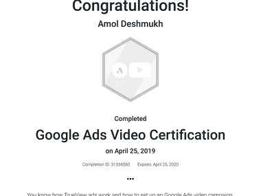 Google Video Ads certification