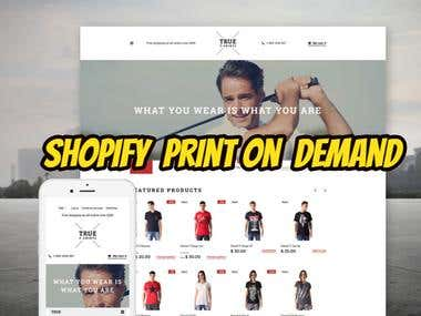 Shopify Print on demand