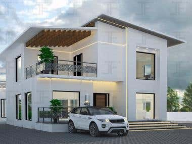 Architectural design of a dream house