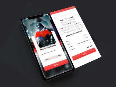 UI Design | Ticket Booking App