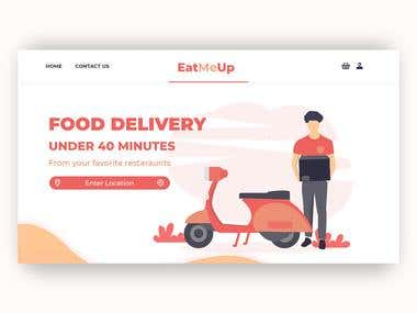 Landing Page Design | Food Delivery Website