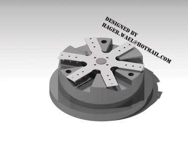 Fan part mold design