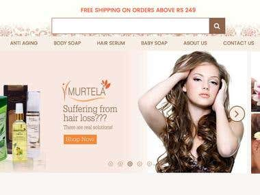 Murtela Cosmetics E commerce Development