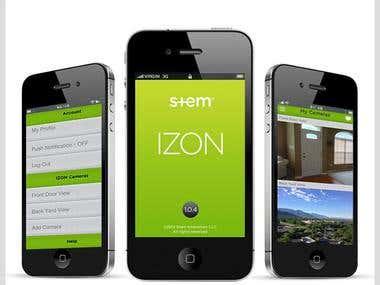 IZON-Cloud Video Management Service iOS Application