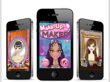 Makeup Maker Creative game for kids iOS application