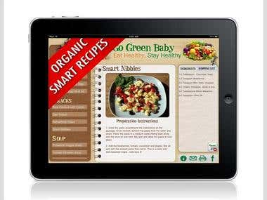 Go Green Baby iPad cookbook