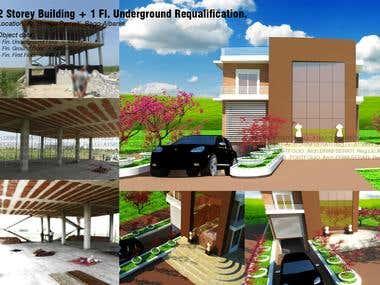 2 Storey Building + 1 Fl. Underground
