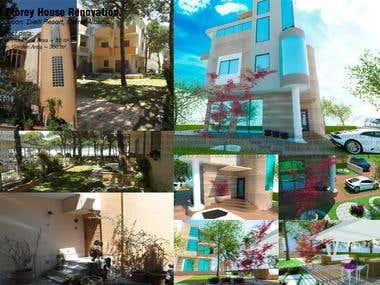 4 Storey House Renovation ( Facade Makeover + Garden Design)
