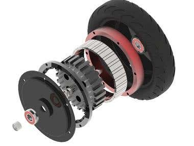 8inch Brushless Hub Motor