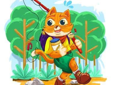 Adventurer Cat character design