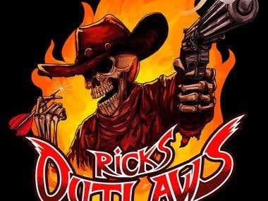 Ricks Outlaw Illustration