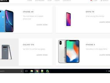 Multiple product page website