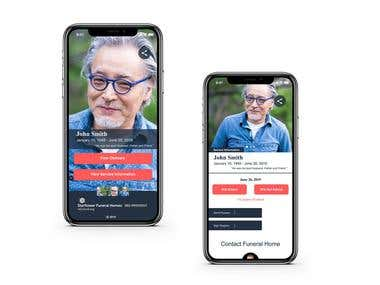 UI/UX for Funeral Home app