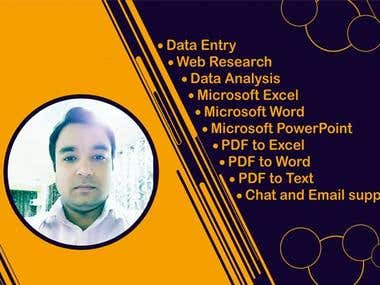 Data Entry and Customer Support ( Chat and Email ) Expert.