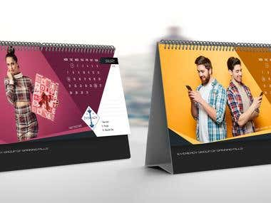 Eveready Desk Calendar Design