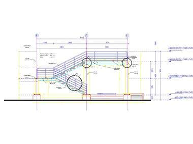 Architectural and structural detail drawing