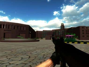 UCP First Person Shooter Game.