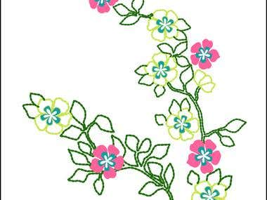 Patterns design for children embroidery.