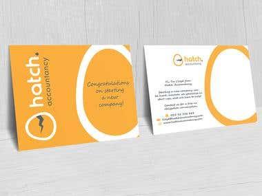 Postcard Design for Hatch Accountancy