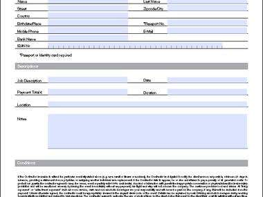 High Standard Professional PDF Form Creation